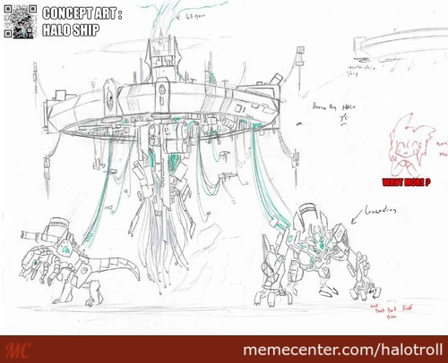 Halo Ship Concept Art