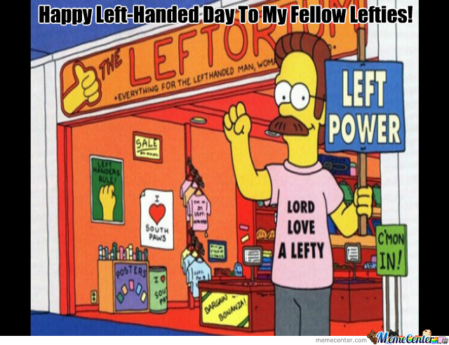 Happy Left-Handed Day!
