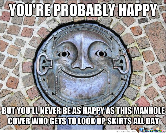 Happy Manhole Cover