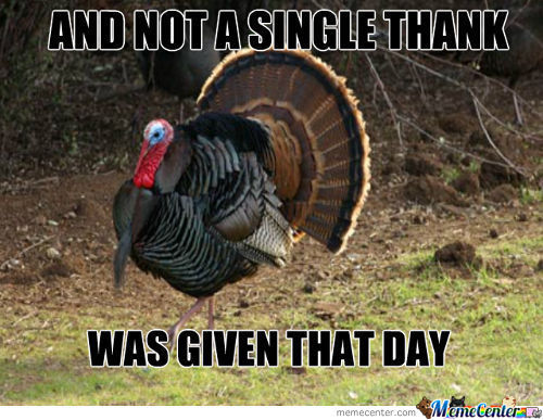 Happy Thanksgiving Memecenter!