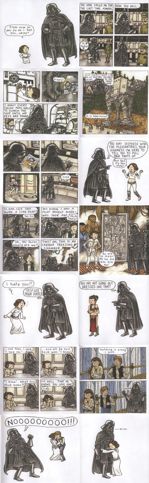 Happy Vader's (Father In Dutch) Day! Leia Ver.