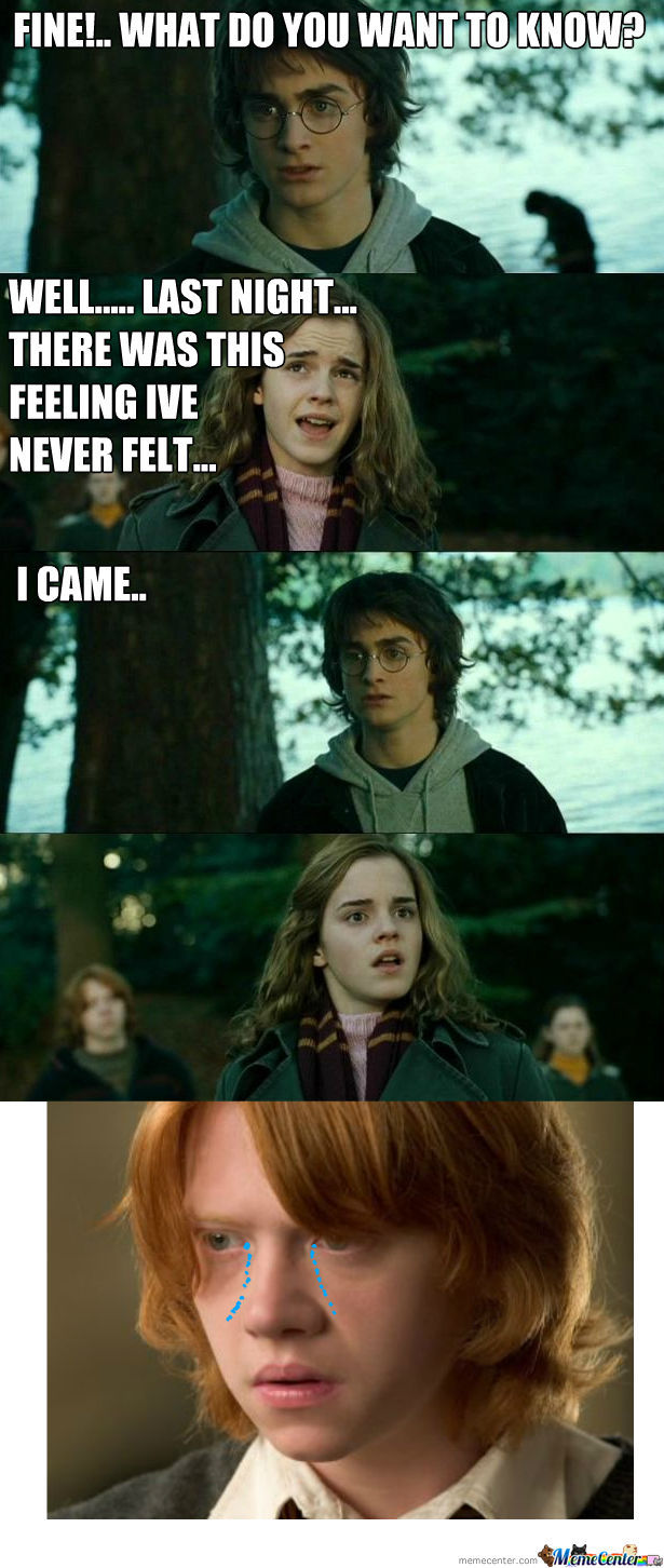 Funny Harry Potter And Hermione Memes : Dirty harry potter hermione meme imgkid the
