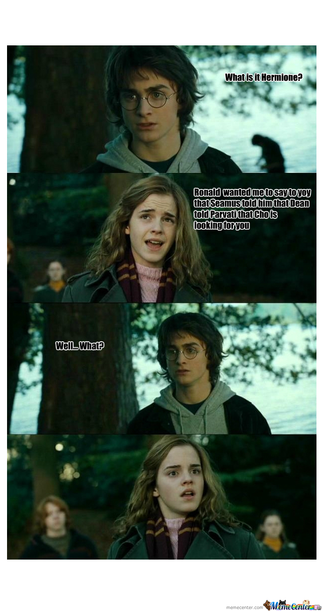 Funny Harry Potter And Hermione Memes : Harry and hermione by toboe meme center