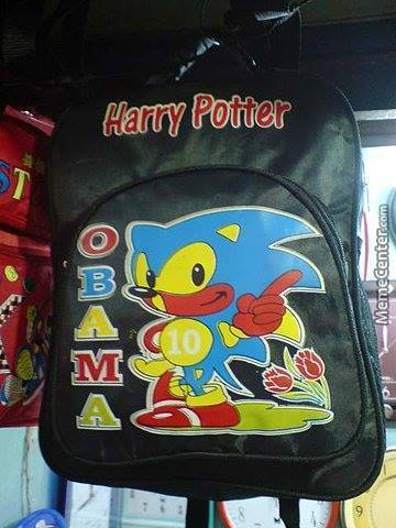 Harry Potter And Obama = Sonic The Headgehog