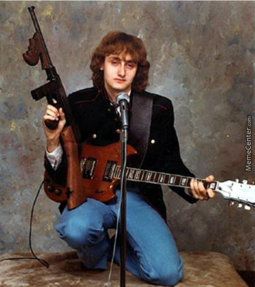 Harry Potter High As F*ck Playing Guitar With A Gun And Shiet
