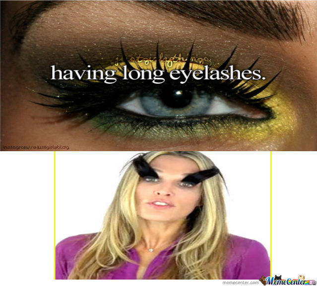 Having Long  Eyelashes