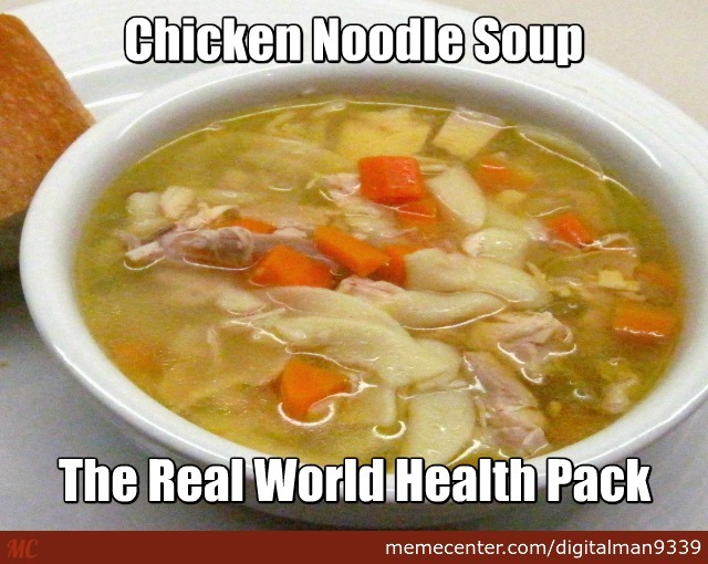 how to make chcicken noodel soup meme