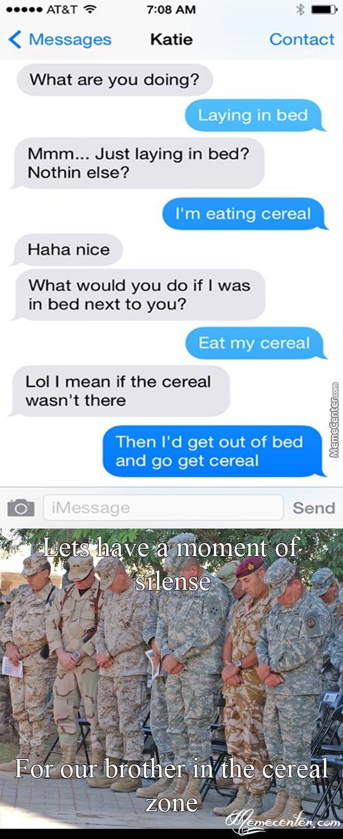 He Fell In The Infamous Cereal Zone..