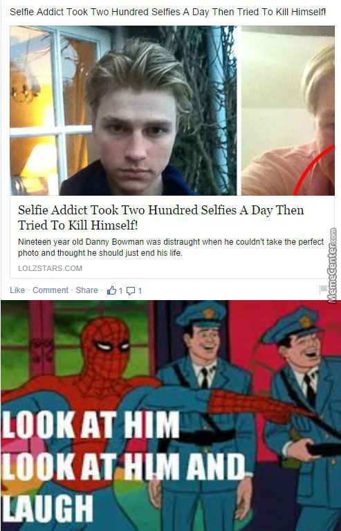 He Just Could't Take The Perfect Selfie....