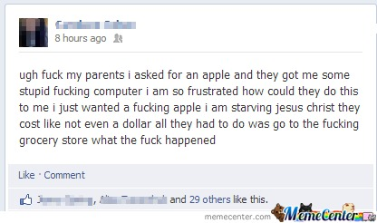 He Just Wanted An Apple