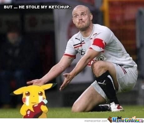 He Stole His Ketchup!