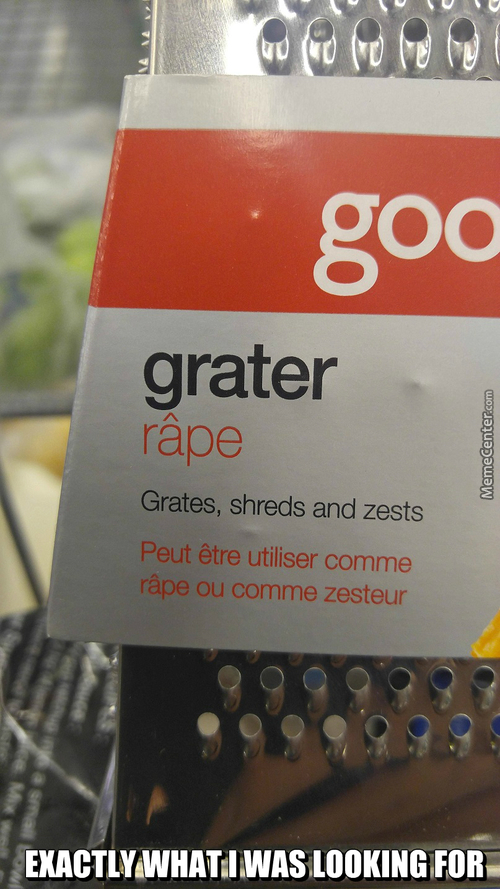 Here Comes The Grater Rape