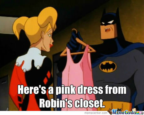 Here's A Pink Dress From Robin's Closet