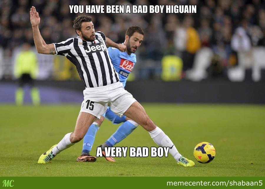 Higuain Gets Punished