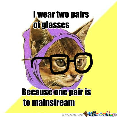 Hipster Kitty Strikes Again!