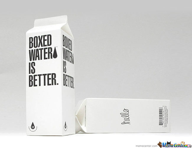 Hipster Water. Because Bottles Are Too Mainstream
