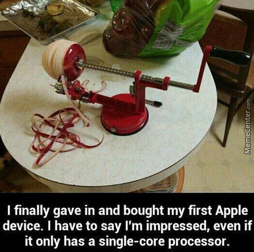 His First Apple Device