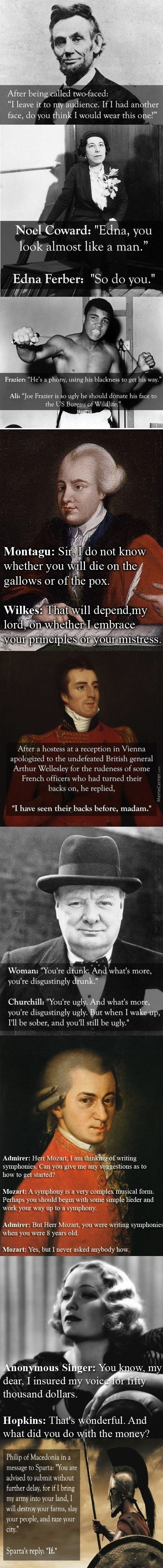 Historical Comebacks