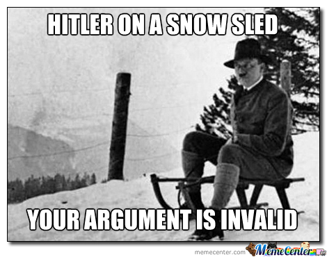 Hitler On A Snow Sled