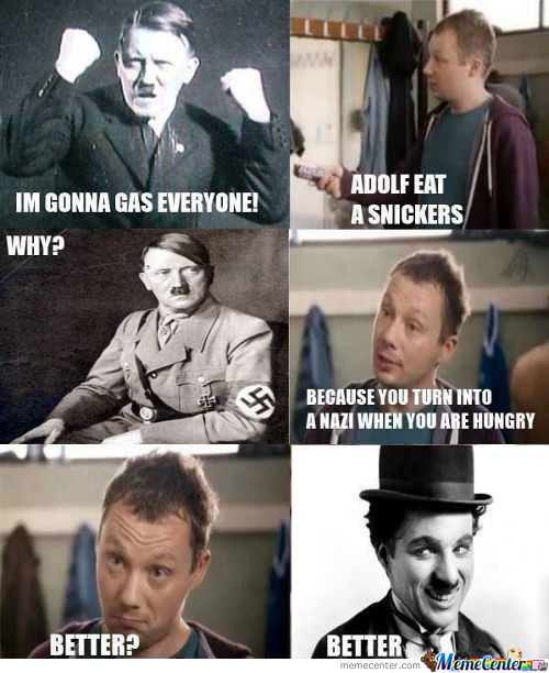 Hitler Snickers Ad
