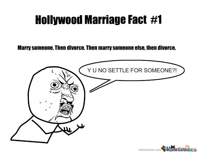 Hollywood Marriage Fact #1