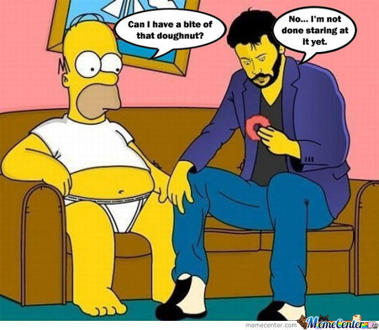 Homer And Keanu Reeves