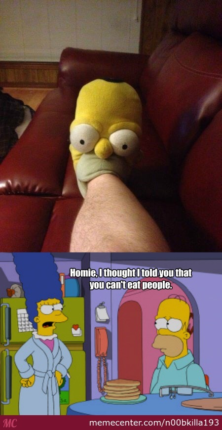 Homer Ate My Foot!
