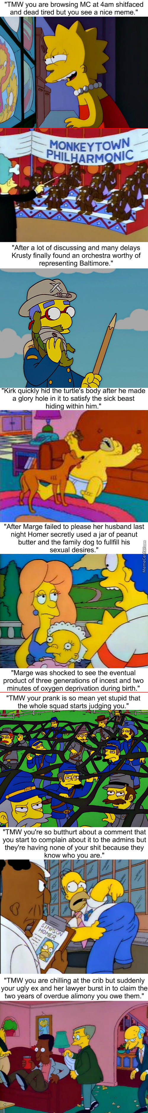 Homerstrips: Yes, Carls Ex Looks Like Mr. Burns