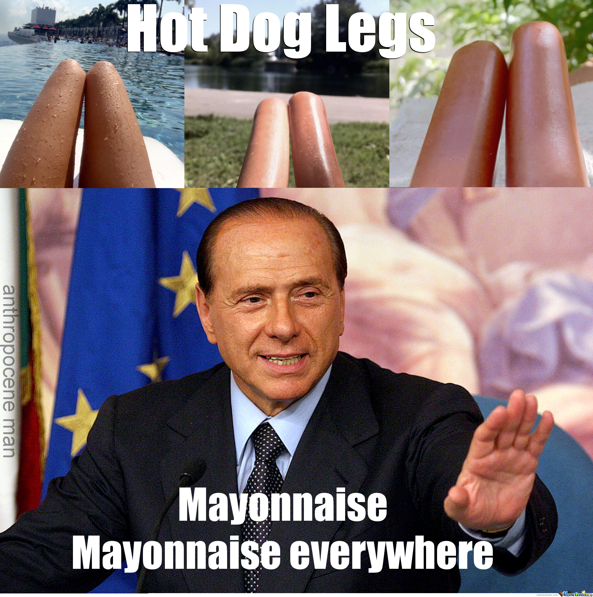 Hot Dog Legs - Berlusconi Edition