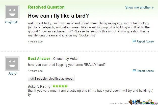 How Can I Fly..?
