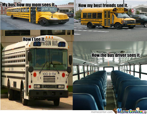 How Different People See School Buses