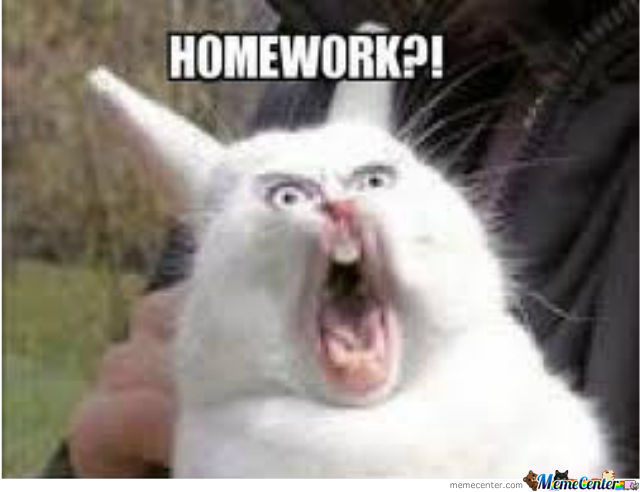 How I Feel When My Teacher Says Homework.....