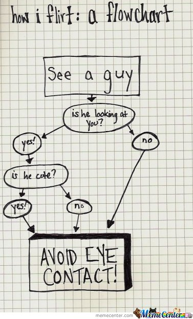 How I Flirt : A Flowchart