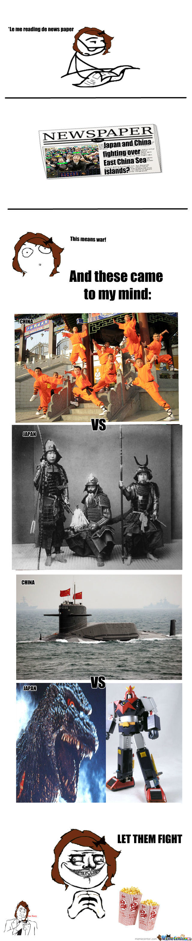 How I Picture The Battle Of China Vs Japan