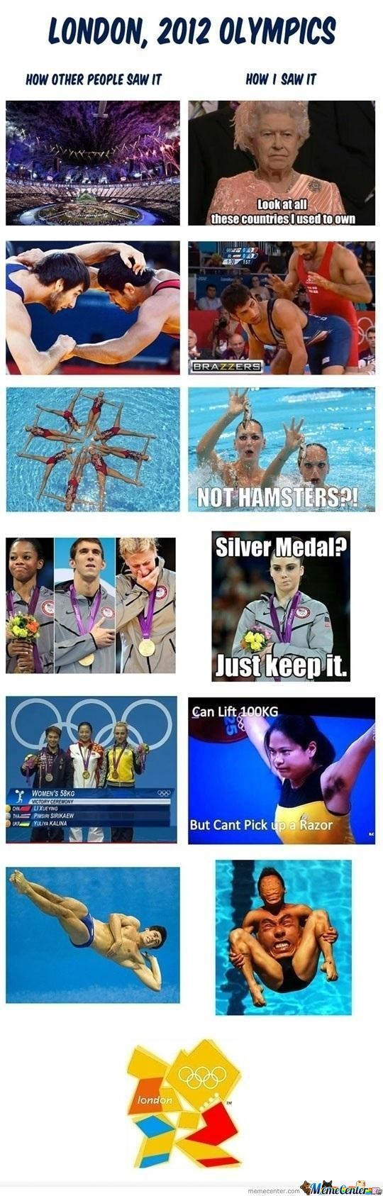 How I Saw The Olympics...