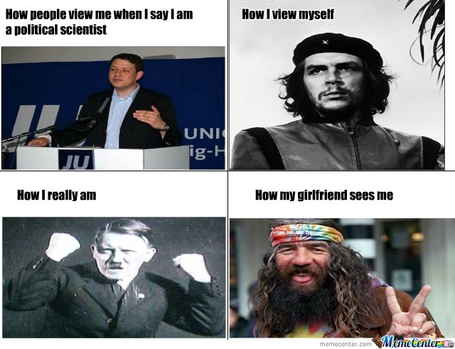 how i view myself political scientist