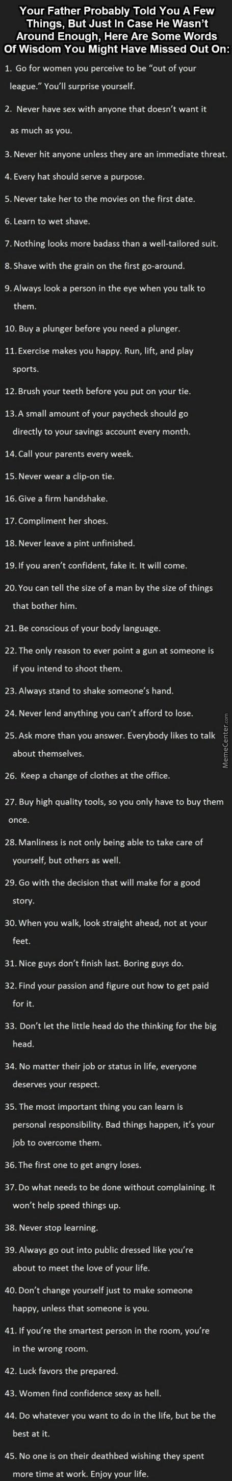 How Many Of You Will Actually Act On This Advices?