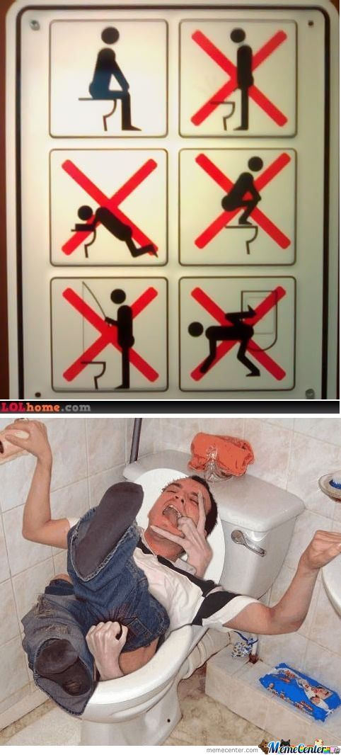 How Not To Use Toilet