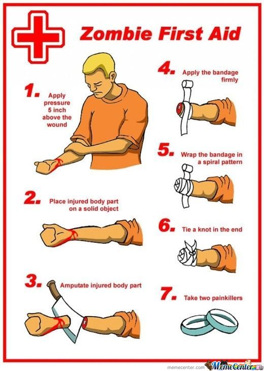 How To Apply First Aid In The Zombie Apocalypse