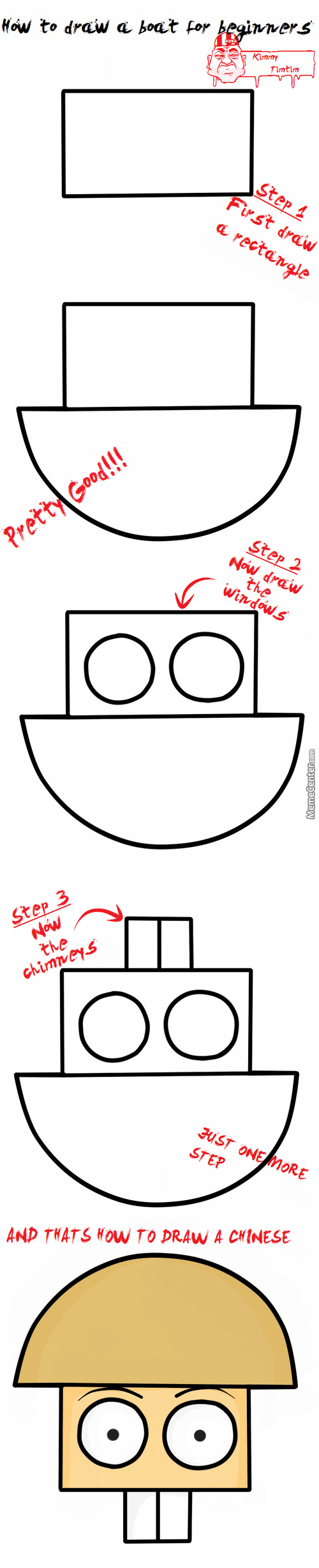 How To Draw A Boat ((Sorry If This Offends People,when I Get An Idea I Cant Help It))