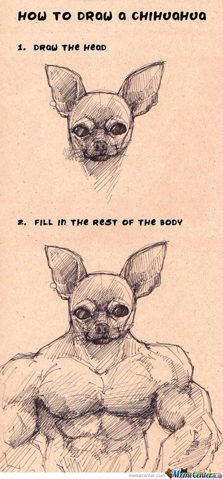 How To Draw A Chihuahua.