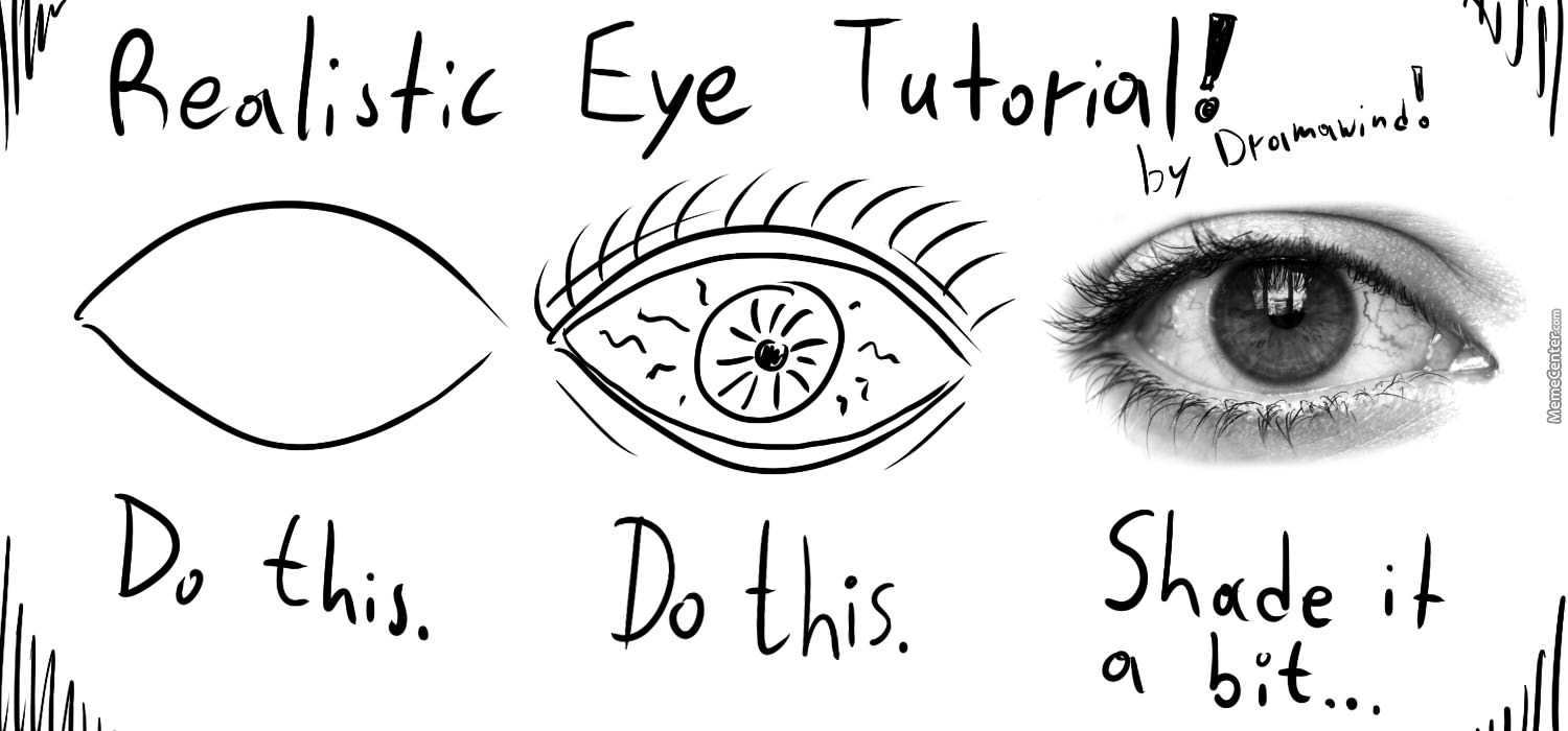 tumblr step by step how to draw realistic eyes