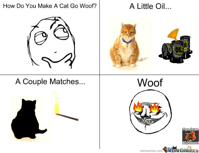 How To Make A Cat Go Woof