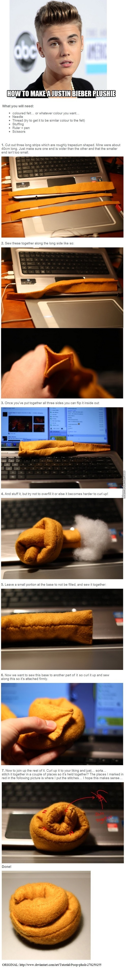How To Make A Justin Bieber Plushie ^^