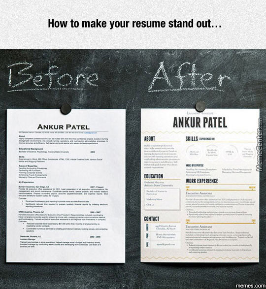 how to make your resume stand out by pesh2000