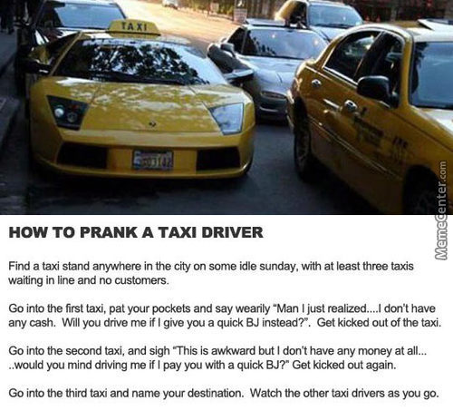 How To Prank Taxi Drivers