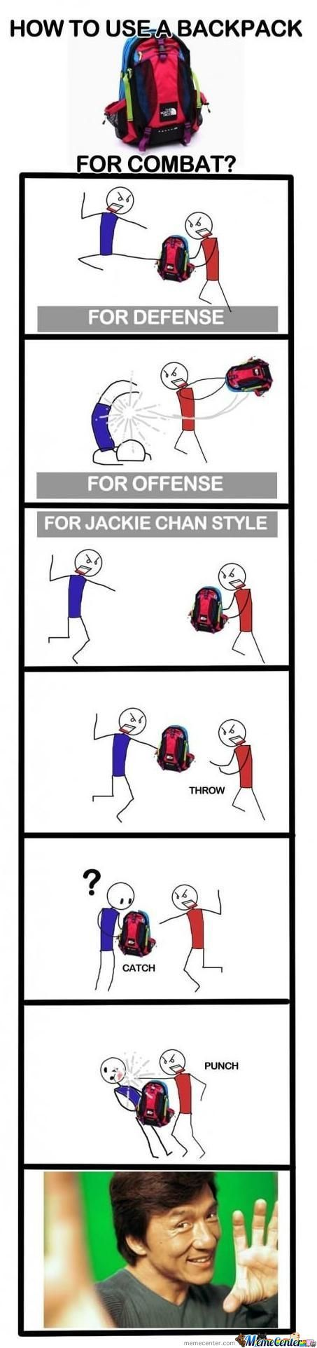 How To Use A Backpack... Like A Ninja