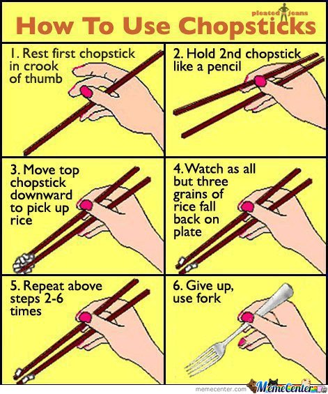 how to use chopstick