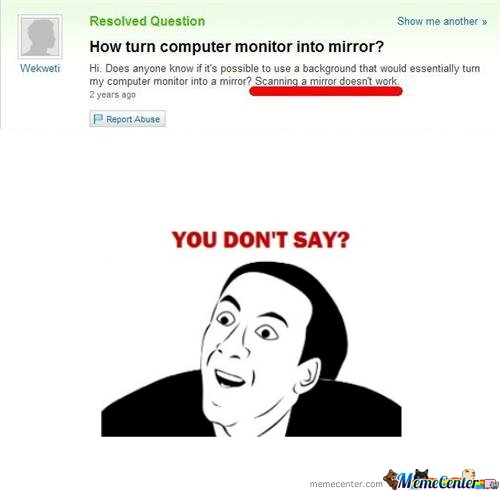 how turn moitor into mirror