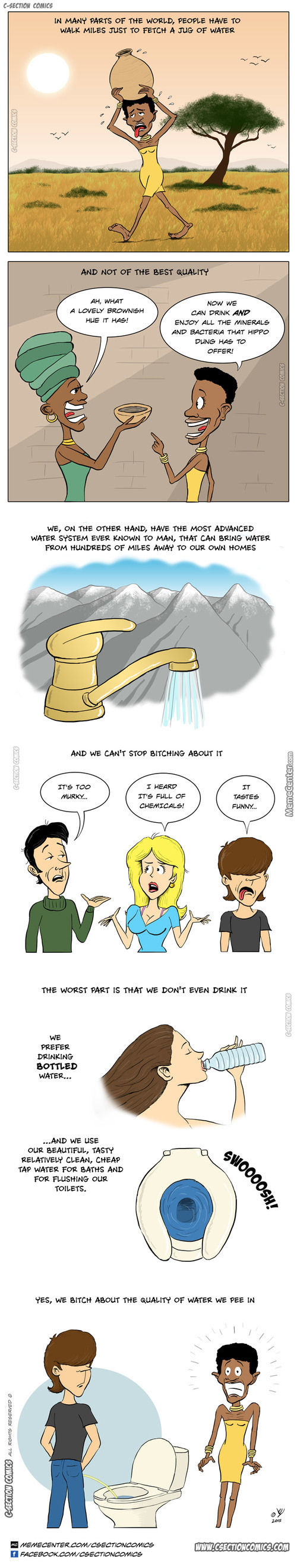 How We Treat Our Water By C-Section Comics